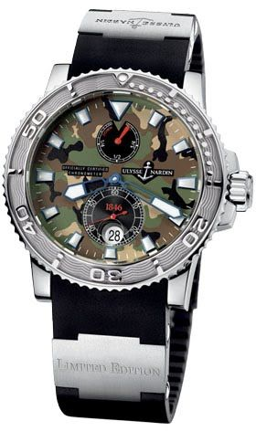263-33-3/MIL Ulysse Nardin часы Maxi Marine  with Camouflage dial Limited