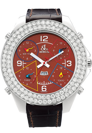 JC - 81JD Jacob & Co Five Time Zone World Is Yours