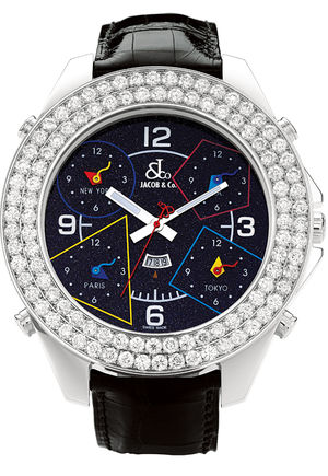 JC - 80JD Jacob & Co Five Time Zone World Is Yours