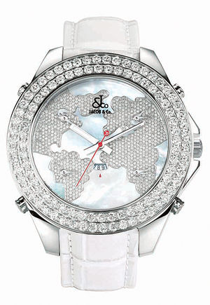 JC - 47JDM Jacob & Co Five Time Zone World Is Yours