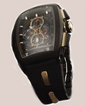 Cvstos Masterpiece Twin-Time SS-Black-Black-Rubb