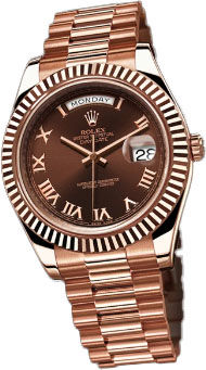 Rolex Day-Date II Archive 218235 Chocolate Roman dial