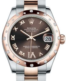 Часы Rolex Datejust 31 Everose Rolesor Domed 24 Diamonds Oyster