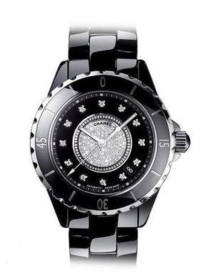 Chanel J12 Black h1757