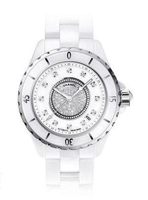 h1759 Chanel J12 White