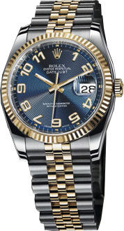 116233 blue concentric circle dial Arabic numerals Rolex Datejust 36