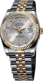 Rolex Datejust 36 116233 silver concentric circle dial Arabic numera