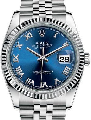 Rolex Datejust 36 116234 Blue Roman Jubilee Bracelet