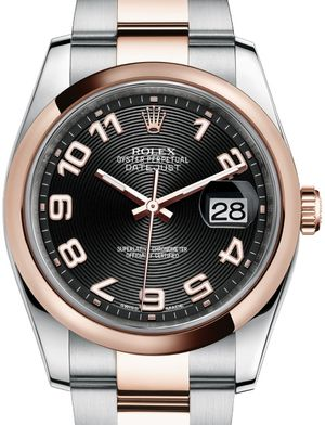 Rolex Datejust 36 116201 black concentric circle Arabic dial