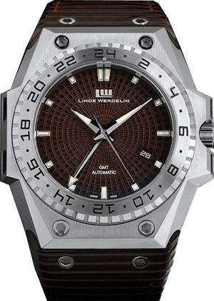 Linde Werdelin 3 Timer 3-timer-steel-brown-dial
