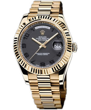 218238  black dial  black Arabic numerals Rolex Day-Date II Archive