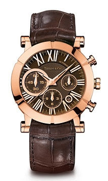 Atlas Chronoraph Black dial Rose Gold Tiffany & Co Tiffani Mans Collection