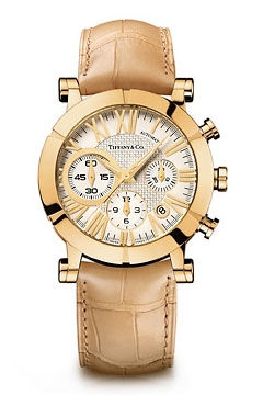 Atlas Chronoraph Yellow Gold Tiffany & Co Tiffani Mans Collection