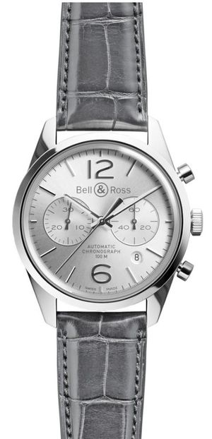 Bell & Ross Vintage BR BR 126 Officer Silver
