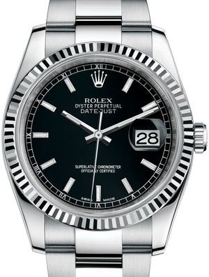 Rolex Datejust 36 116234 Black index Oyster Bracelet