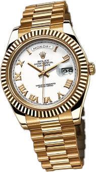 218238  white dial Roman numerals Rolex Day-Date II Archive