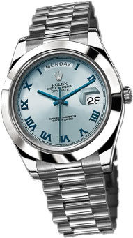 218206 ice blue dial  blue Roman numerals Rolex Day-Date II Archive