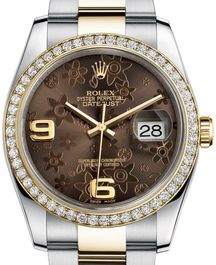 Часы Rolex Datejust 36 Yellow Rolesor and Diamonds Oyster Bracelet