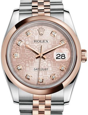 116201 Pink Jubilee design set with diamonds Rolex Datejust 36