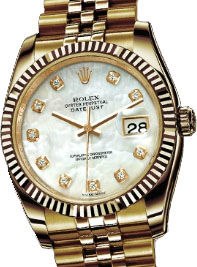 116238 mother of pearl diamond dial Rolex Datejust 36