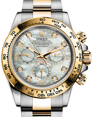 Rolex Cosmograph Daytona 116503 White mother-of-pearl set with diamonds