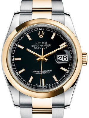 Rolex Datejust 36 116203 Black index Oyster Bracelet