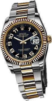 Rolex Datejust 36 116233 black dial Arabic numerals