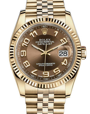 Rolex Datejust 36 116238 bronze Arabik dial Jubilee
