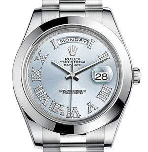 Rolex Day-Date II Archive 218206 Ice blue set with diamonds