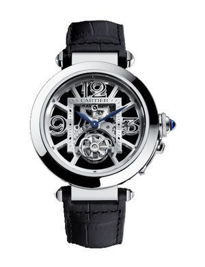 new model-2011 Skeleton-Flying-Tourbillon Cartier Pasha De Cartier