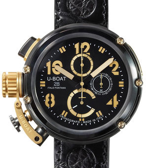 model-2011 Gold Crown Arrow U-Boat Gold Watches