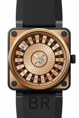 Bell & Ross BR 01-92 BR01 92 Casino Rose Gold & Carbon