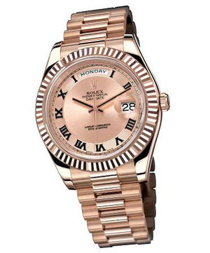 218235 pink champagne concentric circle dial Rolex Day-Date II Archive