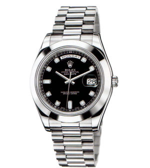 Rolex Day-Date II Archive 218206  black diamond dial