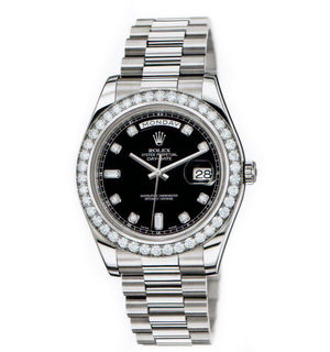 Rolex Day-Date II Archive 218349 black diamond dial
