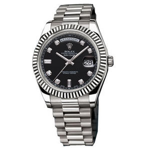 Rolex Day-Date II Archive 218239  black diamond dial