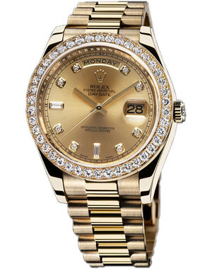 Rolex Day-Date II Archive 218348  champagne diamond dial