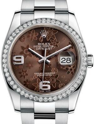 Rolex Datejust 36 116244 Bronze floral motif Oyster Bracelet