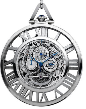 Cartier Calibre de Cartier Cartier Skeleton Pocket Watch Grand Complication