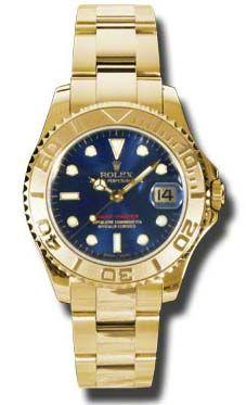168628 blue dial Rolex Yacht-Master