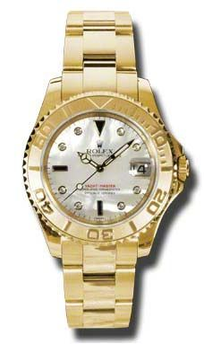 168628 mother of pearl dial 8 diamond Rolex Yacht-Master