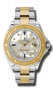 16623 mother of pearl dial diamond and sapphire Rolex Yacht-Master