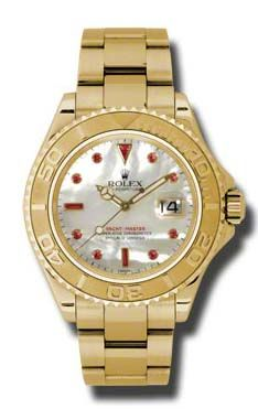Rolex Yacht-Master 16628 mother of pearl dial ruby