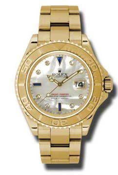 16628 mother of pearl dial diamond sapphir Rolex Yacht-Master