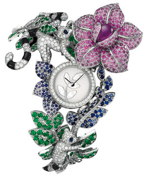 Van Cleef & Arpels High Jewelry Watches White Lemur