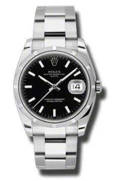 115210 black dial index Rolex Oyster Perpetual
