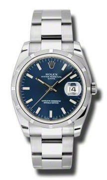 Rolex Oyster Perpetual 115210 blue dial index