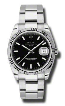 115234 black dial index Rolex Oyster Perpetual