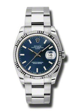 115234 blue dial index Rolex Oyster Perpetual