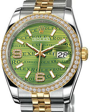 116243 Green Waves Diamonds Rolex Datejust 36
